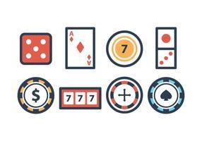 Ensemble d'icônes de casino