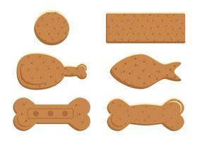 Biscuit pour chien vecteur
