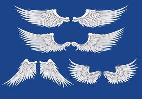 Illustration des ailes blanches vecteur