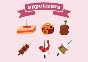 Vecteur d'icônes d'apéritifs