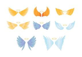 Collection Colorful Angel Wings Colorful vecteur