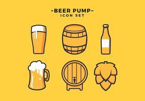 Ensemble d'icônes de bière Vector gratuit