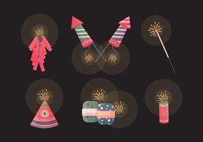Collection Diwali Crackers Vector