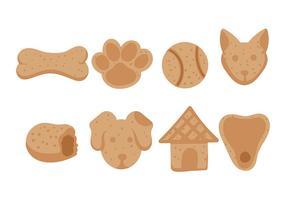 Vecteur d'icône de biscuit de chien