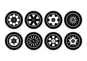 Collection gratuite de vecteur en alliage de roues