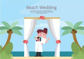 Illustration de mariage de plage