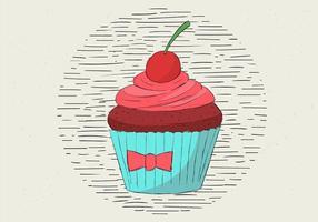 Illustration de Muffin Vectorisée à la main vecteur