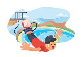 Illustration gratuite de saut à l'élastique vecteur