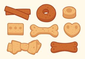 Vecteur d'icônes de biscuits pour chien