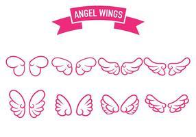Vecteur icône des anges ailes