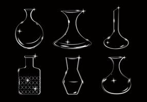 Vecteur de décanteur blanc