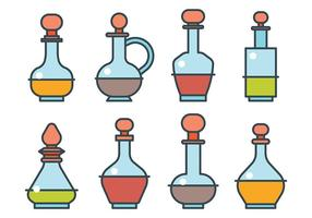 Icônes vectorielles de décanteurs