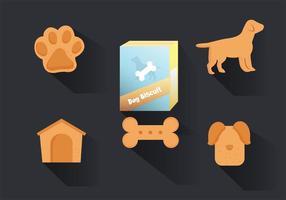 Paquet vectoriel de biscuits pour chien