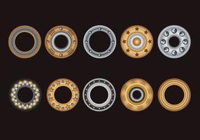 Définir des oeillets, une rondelle plate et des oeillets