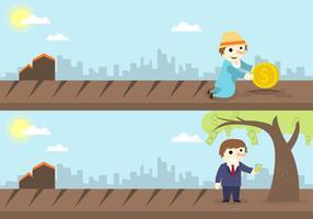 Vector d'illustration de concept de bénéfices financiers