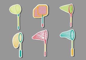 Illustrations vectorielles de Butterfly Net Collection vecteur