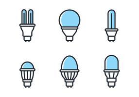 Ensemble d'icônes LED vecteur