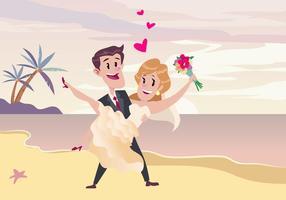 Vecteur de cérémonie de mariage de plage