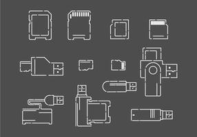 Icônes de vecteur de lecteur de carte