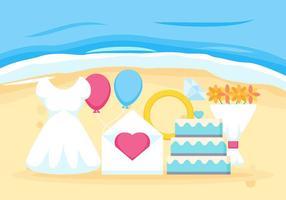 Des vecteurs de mariage de plage exceptionnels