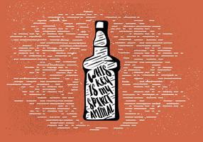 Fond gratuit de boissons dessiné à la main vecteur