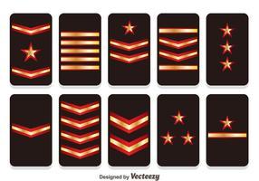 Badges de badges vecteurs de rang militaire vecteur