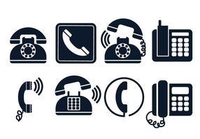 Ensemble de vecteur icône de téléphone
