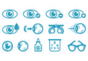 Ensemble d'icônes de test d'oeil