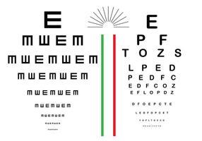 Vecteur de test oculaire