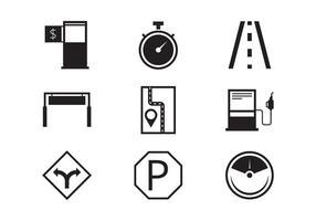 Collection d'icônes de péage vecteur