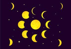 Illustration vectorielle de phase éclipse