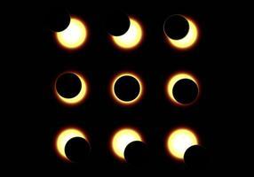 Illustration de l'éclipse du soleil