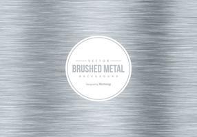 Fond de métal brossé vecteur