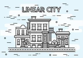 Fond de vecteur Linear Cityscape gratuit