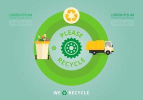 La vie de la nature. Processus de recyclage.