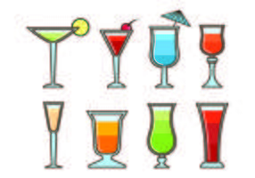 Vecteurs Glass Of Mocktail