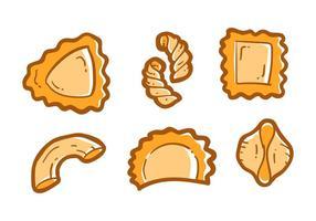 Vecteurs de pâtes délicieux gratuits vecteur