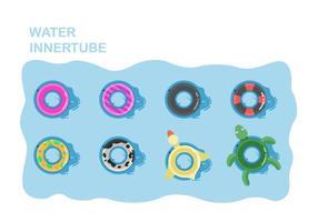 Collection de vecteur de tube intérieur à eau libre