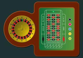 Vector de table de roulette