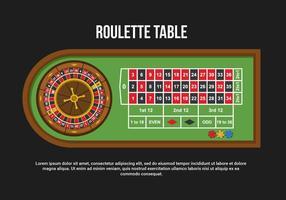 Illustration vectorielle de table de roulette