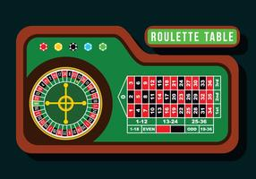 Table roulette Vecteur plat