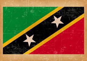 Drapeau grunge de Saint-Kitts-et-Nevis vecteur