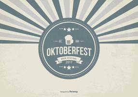 Retro oktober fest illustration vecteur