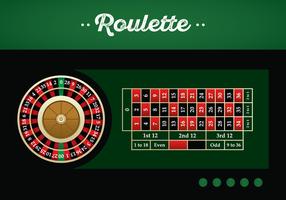 Illustration vectorielle de table de roulette américaine