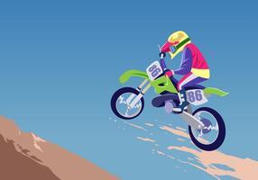 Vector de Motorcross en action