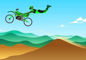 Style de saut Motocross Free Vector