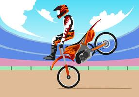 Vecteur libre de motocross sans style