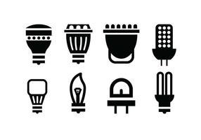 Icônes de vecteur d'ampoule