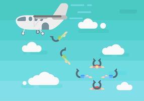 Des vecteurs de parachutisme exceptionnels gratuits vecteur