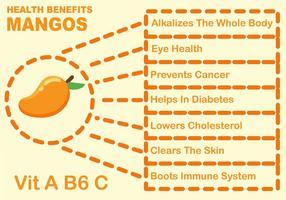 Infographie des avantages du fruit de la mangue vecteur